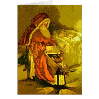 Salutation vintage de Noël de ~ de Noël de père Cartes