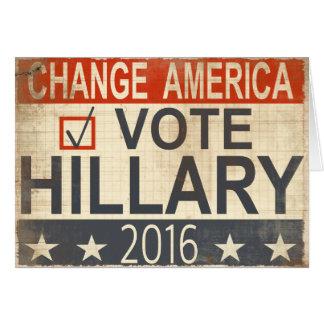 Salutations 2016 d'élection de Hillary Clinton de Cartes