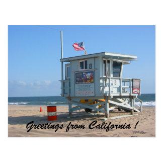 salutations californiennes carte postale