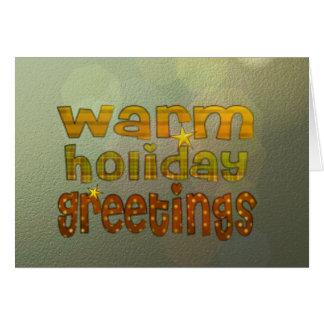 Salutations chaudes de vacances cartes de vœux