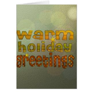 Salutations chaudes de vacances cartes