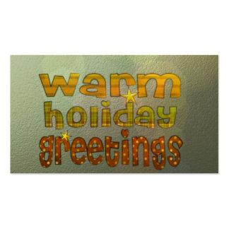 Salutations chaudes de vacances cartes de visite professionnelles