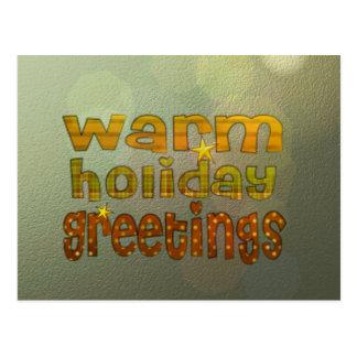 Salutations chaudes de vacances carte postale