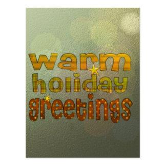 Salutations chaudes de vacances cartes postales