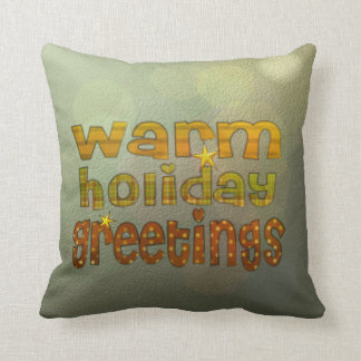 Salutations chaudes de vacances oreillers