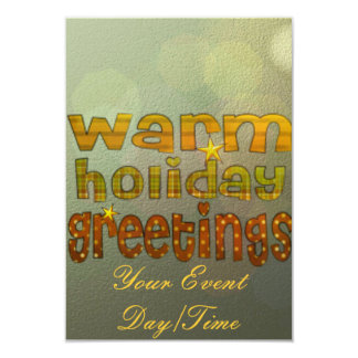 Salutations chaudes de vacances carton d'invitation 8,89 cm x 12,70 cm
