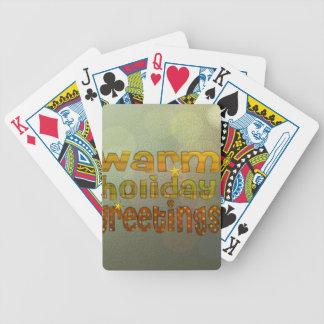 Salutations chaudes de vacances jeux de 52 cartes