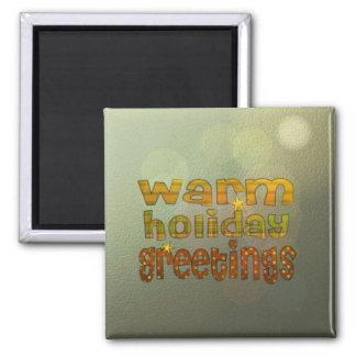 Salutations chaudes de vacances aimant pour réfrigérateur