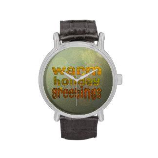 Salutations chaudes de vacances montres bracelet