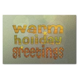 salutations chaudes de vacances papier mousseline 25,4 x 38,1 cm