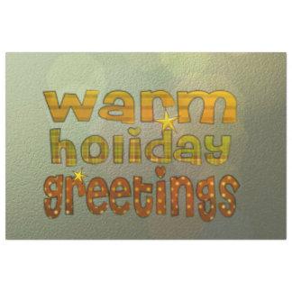 salutations chaudes de vacances papier mousseline 50,8 cm x 76,82 cm