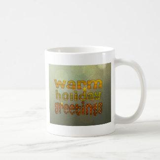 Salutations chaudes de vacances mugs à café