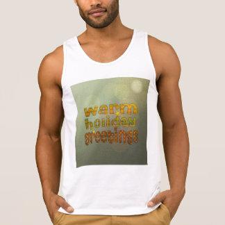 Salutations chaudes de vacances tee-shirt sans manches
