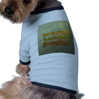 Salutations chaudes de vacances manteaux pour animaux domestiques