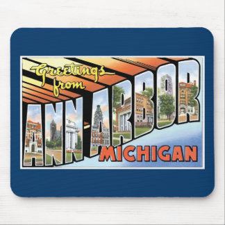 Salutations d Ann Arbor Michigan Tapis De Souris