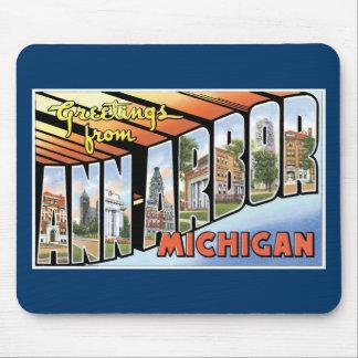 Salutations d'Ann Arbor, Michigan ! Tapis De Souris