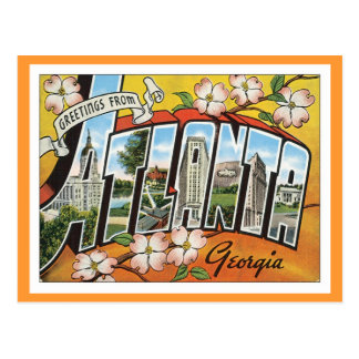 Salutations d'Atlanta Carte Postale