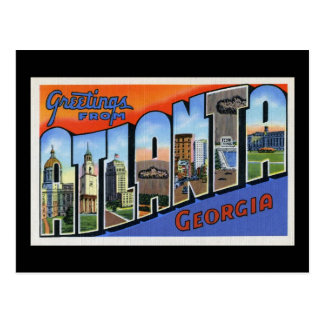 Salutations d'Atlanta Cartes Postales
