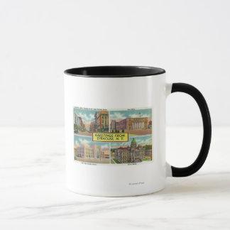 Salutations de avec les vues pittoresques 2 mug