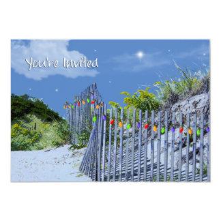 Salutations de barrière de plage et de Noël de Cartons D'invitation