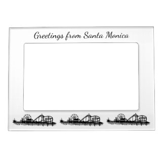 Salutations de cadeau de pilier de Santa Monica la Cadre Magnétique