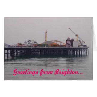 Salutations de carte de voeux de Brighton