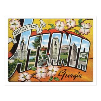 Salutations de carte postale d'Atlanta la Géorgie
