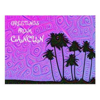 Salutations de carte postale de Cancun