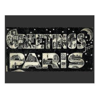 Salutations de carte postale de cru de Paris
