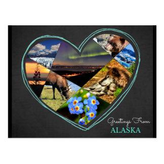 Salutations de carte postale de ♥ de l'Alaska