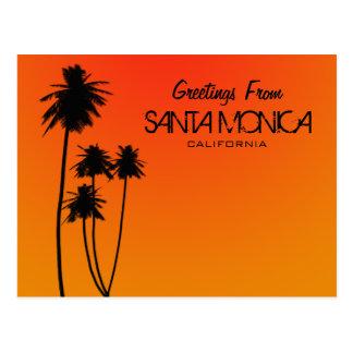 Salutations de carte postale de Santa Monica