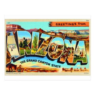 Salutations de carte postale de voyage de lettre