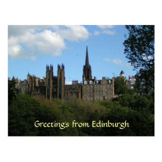 Salutations de carte postale d'Edimbourg