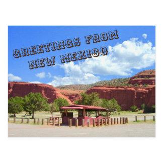Salutations de carte postale du Nouveau Mexique