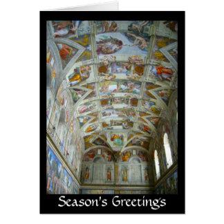 salutations de chapelle de sistine carte de vœux