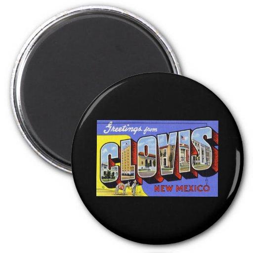 Salutations de Clovis Nouveau Mexique Aimants Pour Réfrigérateur