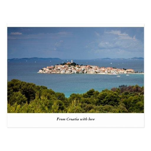 Salutations de Croatie, Primosten Carte Postale