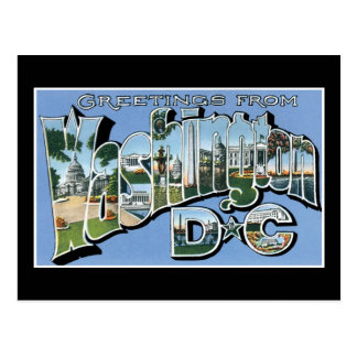 Salutations de DC de Washington ! Carte postale