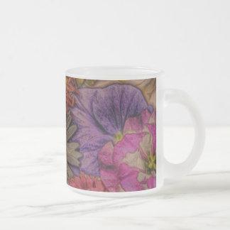 salutations de fleur, regard vintage tasses