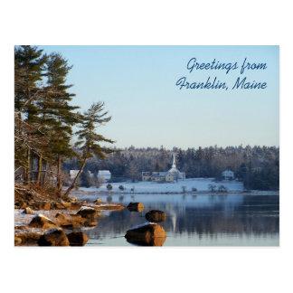 Salutations de Franklin, Maine Carte Postale