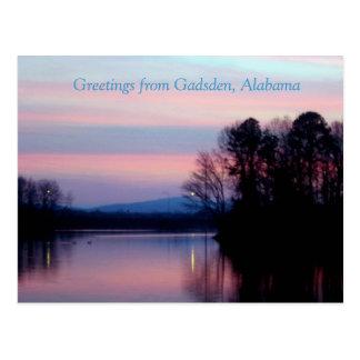 Salutations de Gadsden, AL Carte Postale