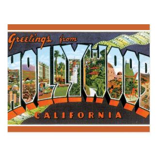 Salutations de Hollywood Carte Postale