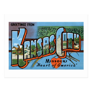 Salutations de Kansas City Carte Postale