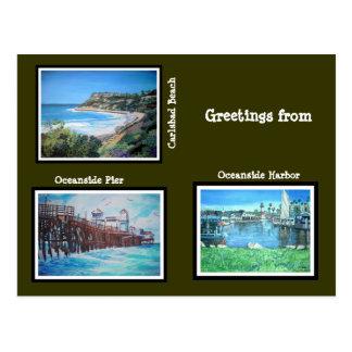 Salutations de la Californie - carte postale