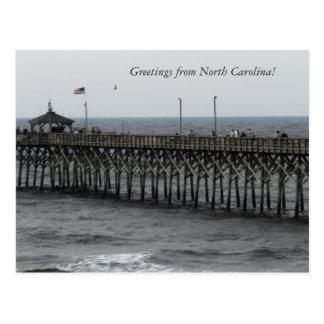 """Salutations de la Caroline du Nord !"""" Pêche de pil Carte Postale"""
