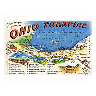 Salutations de la carte postale de péage de l'Ohio
