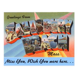 Salutations de la plage de Salisbury, Carte Postale