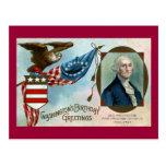 Salutations de l'anniversaire de Washington Cartes Postales
