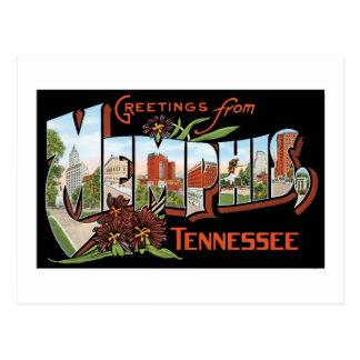 Salutations de Memphis, Tennessee ! Rétro carte