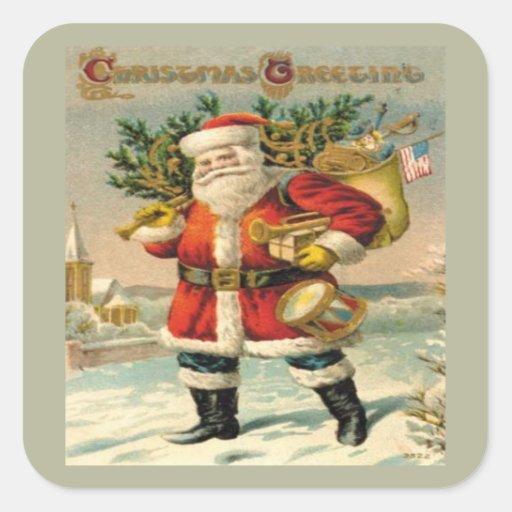Salutations de Noël Sticker Carré